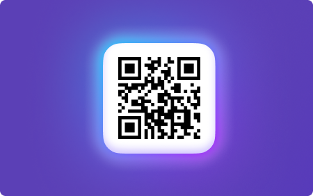 on a picture is depicted QR code